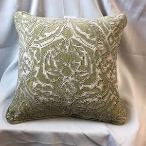 C &F Velvet & Linen Rorschach Embroidered Pillow